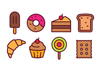Bakery and Pastry Icon Pack - Free vector #441889