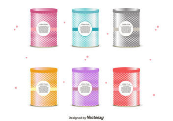 Tin Box Vector Set - бесплатный vector #441909
