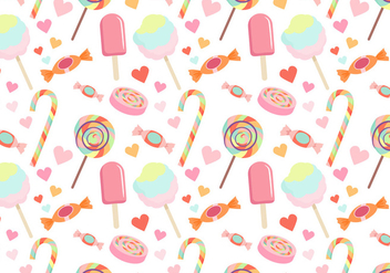 Colorful Candy Pattern Vectors - Kostenloses vector #441939