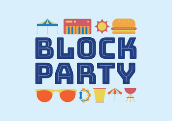 Block party vector icons - бесплатный vector #441959