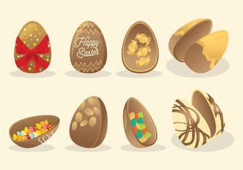 Chocolate Easter Eggs Vector - Free vector #441979