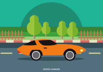 Vector Illustration Of Classic Muscle Car - Kostenloses vector #441989
