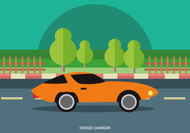 Vector Illustration Of Classic Muscle Car - Free vector #441989
