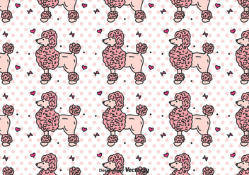 Poodle Vector Pattern - Free vector #442009