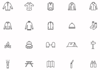 Free Camping Equipment Vectors - Kostenloses vector #442049
