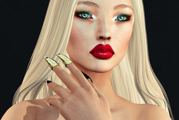 Hallow Mesh rings & Lilian Shadow by SlackGirl - бесплатный image #442089