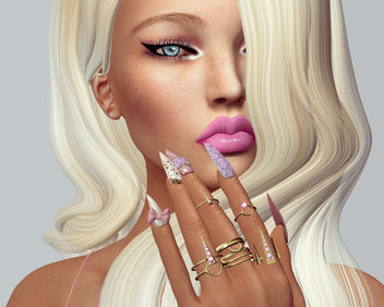 Doll Mesh Nail by SlackGirl - бесплатный image #442149