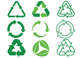 Biodegradable Arrows Vector Icons Set - Free vector #442249