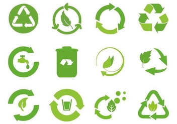 Free Recycled Cycle Icons Vector - Free vector #442279