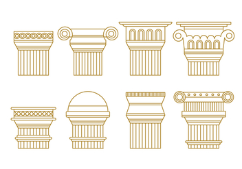 Free Roman Pillars Vector Pack - бесплатный vector #442289