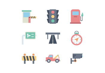 Free Road Traffic Icon Set - vector gratuit #442299