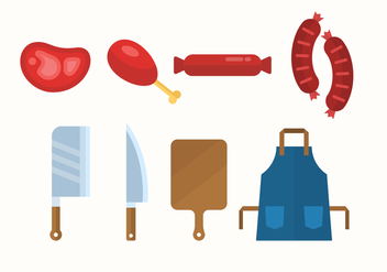 Free Butcher Shop Icons - Free vector #442339