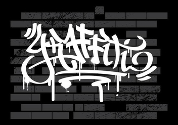 Graffiti On Wall Vector Background - vector gratuit #442389