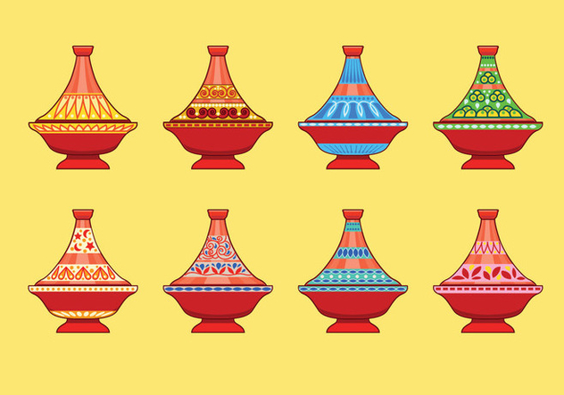 Ceramic tajine flat icon - бесплатный vector #442399