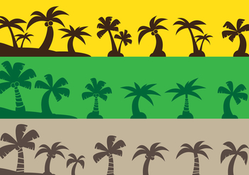 Coconut Tree Icons - Free vector #442409