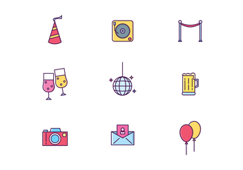 Festa Party Icon Vectors - vector gratuit #442469