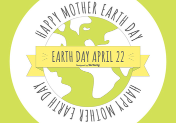 Flat Style Happy Earth Day Illustration - бесплатный vector #442499