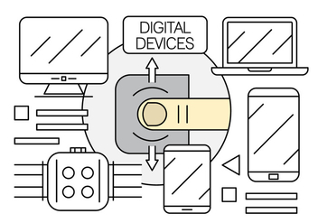Free Linear Electronics and Digital Devices - бесплатный vector #442639