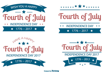 Fourth of July Label Collection - vector #442719 gratis