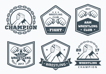 Arm Wrestling Badge Collection - Free vector #442779