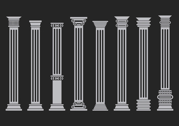 Various Corinthian Set Free Vector - бесплатный vector #442819