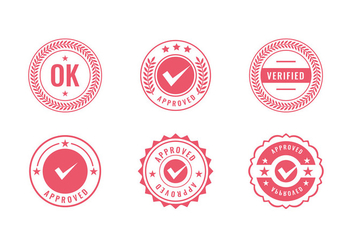 Cachet Logo Red Stamp Free Vector - Free vector #442949