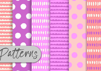 Pink Abstract Pattern Set - vector gratuit #442959
