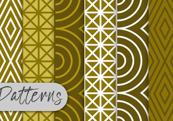 Olive Line Pattern Set - Free vector #442969
