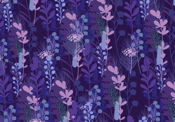 Seamless Pattern Of Bluebonnet - Free vector #443009