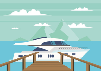 Boardwalk to a Boat Free Vector - бесплатный vector #443049