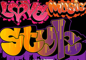 Vector Graffiti Urban Art Set - Free vector #443059