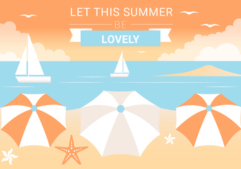 Free Summer Beach Elements Background - Kostenloses vector #443119
