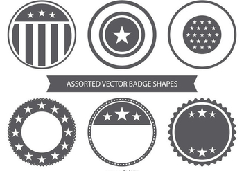 Blank Vector Badge Collection - Free vector #443159