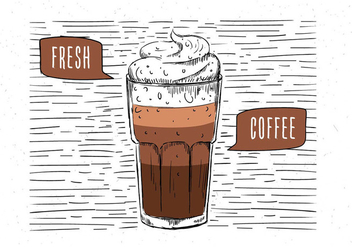 Free Hand Drawn Vector Coffee Illustration - vector gratuit #443219