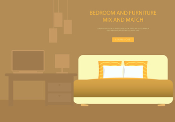 Headboard Bedroom and Furniture - vector gratuit #443249