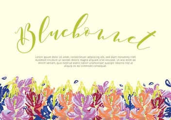 Bluebonnet Garden Card Vector - бесплатный vector #443269
