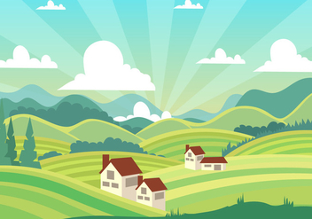 Beautiful Tuscany Landscape - бесплатный vector #443309