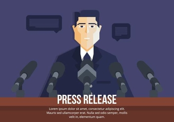 Press Release Illustration - Free vector #443329