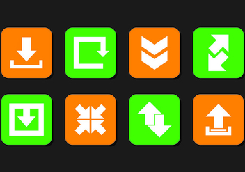 Set Of Update Icons - vector #443349 gratis