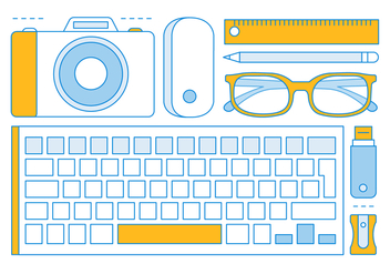 Free Linear Office Tools Elements - Free vector #443419