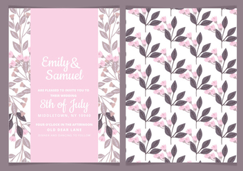 Vector Feminine Watercolor Wedding Invite - Kostenloses vector #443439