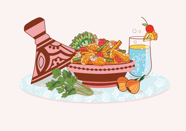 Tajine Dishes Vectors - vector gratuit #443469