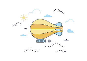 Free Air Ship Vector - Free vector #443489
