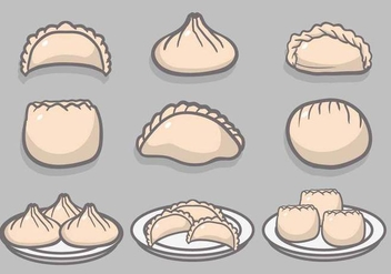 Dumplings hand drawn vector set - Free vector #443509