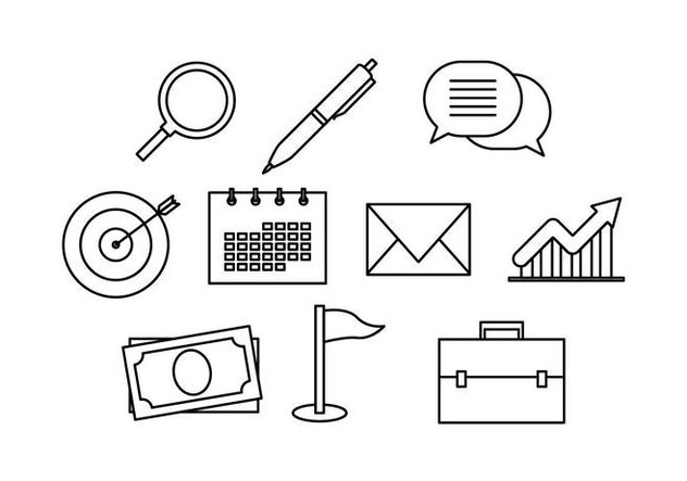 Free Business Line Icon Vector - Free vector #443549