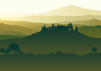 Landscape Of Tuscany Free Vector - Kostenloses vector #443559