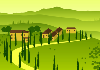 Tuscany Overview Free Vector - бесплатный vector #443569