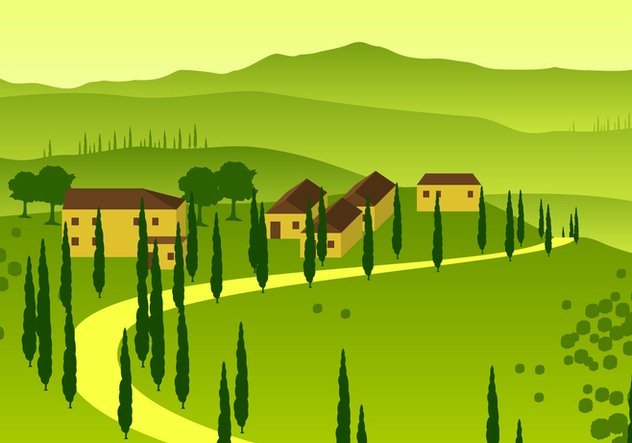 Tuscany Overview Free Vector - Free vector #443569