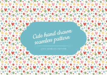 Vector Cute Seamless Pattern - Free vector #443649