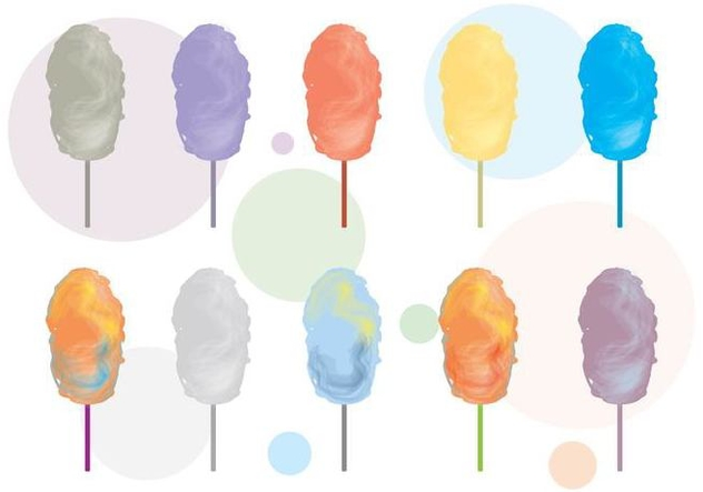 Candy Floss Vector Variant - Free vector #443659